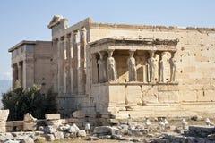 Cariátides en Erechtheion imagen de archivo libre de regalías