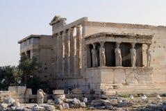 Cariátides en Pathenon, Atenas, Grecia Fotos de archivo libres de regalías