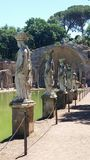 Cariátides na casa de campo Adriana Fotos de Stock Royalty Free