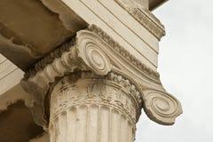 Cariátides, templo del erechtheum en la acrópolis de Atenas, Grecia Fotos de archivo