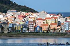 Cariño, sur la côte du nord de la Galicie Photographie stock libre de droits