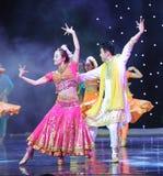 Cariñoso-danza de la India Imágenes de archivo libres de regalías