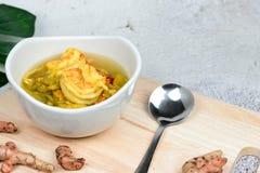 Cari aigre de fleur de Katuri, nourriture tha?landaise photo stock