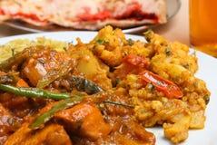 Cari d'Indien de Jalfrezi de poulet photos libres de droits