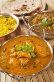 Cari d'Indien de poulet de beurre Photographie stock