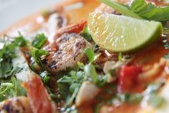 Cari de crevette rose. Photographie stock libre de droits
