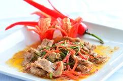 Cari de Panaeng avec du porc Photographie stock