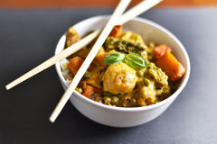 Cari de poulet notre nourriture thaïlandaise image libre de droits