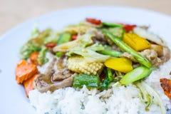 Cari de viande avec du riz photos stock