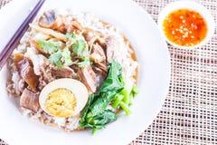 Cari de viande avec du riz, orientation sélectrice Photos libres de droits