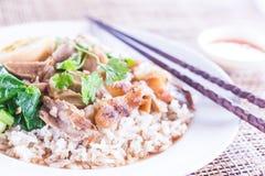 Cari de viande avec du riz, orientation sélectrice Photos stock
