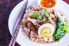 Cari de viande avec du riz, orientation sélectrice Images stock