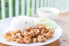 Cari de viande avec du riz, orientation sélectrice image stock