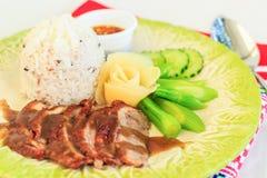 Cari de viande avec du riz, orientation sélectrice Photo stock