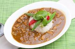 Cari et riz photos stock