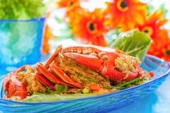 Cari fait sauter à feu vif de crabe Photos stock