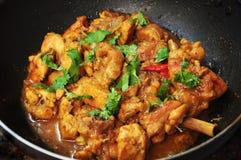 Cari indien épicé de poulet photographie stock