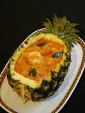 Cari rouge thaï avec l'ananas Photographie stock libre de droits