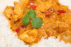Cari rouge thaï avec le poulet Images stock