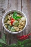 Cari thaï de vert de poulet Nourriture thaïlandaise célèbre de tradition Image pour Photographie stock libre de droits