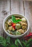 Cari thaï de vert de poulet Nourriture thaïlandaise célèbre de tradition Image pour Images libres de droits