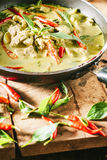 Cari vert de porc, cuisine thaïe Photo stock
