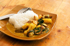 Cari vert thaïlandais de crevette Image stock