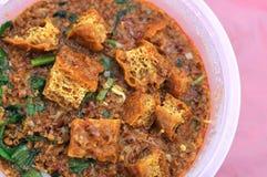 Cari végétarien traditionnel malais Images stock