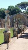 Cariatides à la villa Adriana photos libres de droits