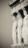 Cariatides, Acropole, Athènes photo libre de droits
