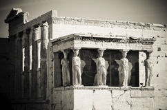 Cariatides, Acropole, Athènes image libre de droits