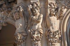 Cariatides au zwinger, Dresde image libre de droits