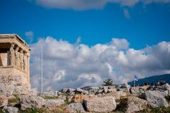 Cariatides d'Acropole photos libres de droits