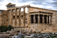 Cariatides d'Acropole image stock