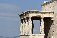Cariatides of the Erechtheion Acropolis Royalty Free Stock Images
