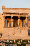 Cariatidi, acropoli del tempio di erechtheion, Atene Grecia Immagini Stock Libere da Diritti