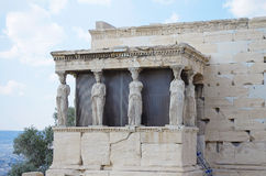 Cariatids Erechtheion am Parthenon Athen Stockfotografie