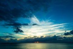 caribbean над заходом солнца моря Стоковое Фото