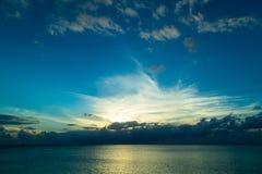 caribbean над заходом солнца моря Стоковая Фотография RF