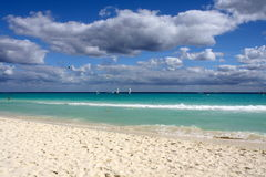 Caribbean. The stunning beaches of the Riviera Maya in Mexico Stock Image