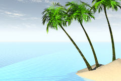 Caribbean. 3D render of the caribbean Stock Photography