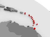 caribbean ilustração do vetor