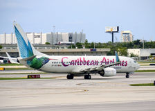 Caribbean Airlines passenger jet airplane Royalty Free Stock Photos