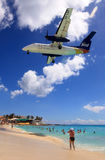 Caribbean Airling LIOT jet landing Stock Photo