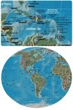 The Caribbean and The Americas map Stock Photography