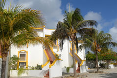 Caribbean apartment house Stock Photos
