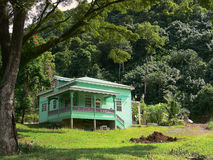 Caribbean Architechture in Fench Style. In Dominica Stock Images