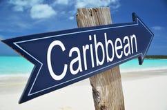 Caribbean arrow. On the beach Royalty Free Stock Photos