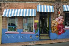 Caribbean arts and crafts shop Royalty Free Stock Image