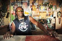 Caribbean bar tender Stock Photo